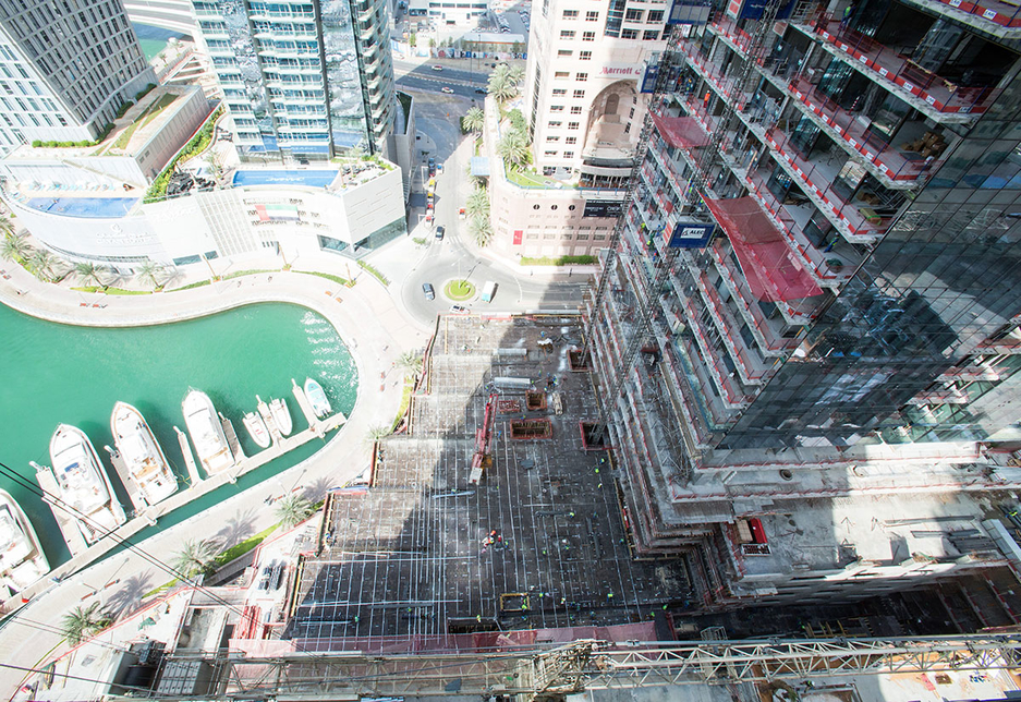 Marina Gate is located in a prime spot of Dubai Marina and is being built by UAE contractor ALEC.