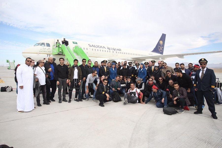 Saudi Arabian Airlines (Saudia) operated the first flight to Saudi Arabia's under-construction super city, Neom.