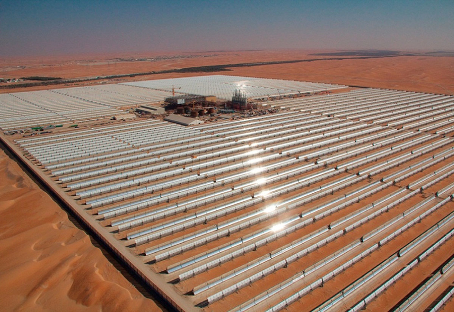 Shams 1 in Abu Dhabi is the Middle East's largest solar plant in operation.