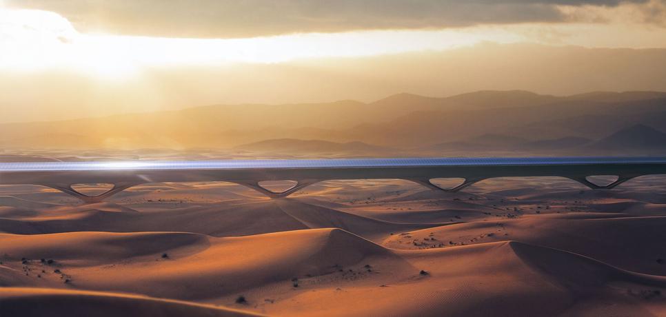 Hyperloop TT is working in Abu Dhabi.