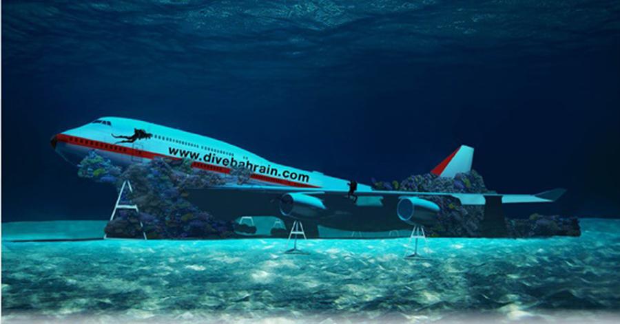 A Boeing 747 will headline Bahrain's underwater theme park.