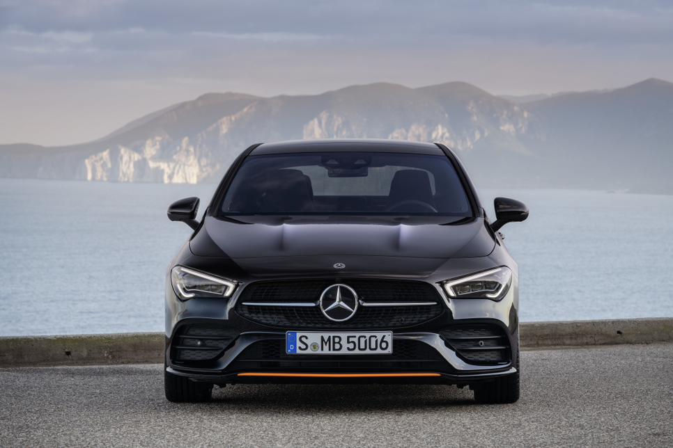 The Mercedes-Benz CLA Coupé is part of a new line of so-called smart cars that the German company makes.