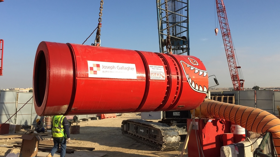Joseph Gallagher International and Mace are using an Iseki microtunnelling boring machine for Abu Dhabi's ADSSC.