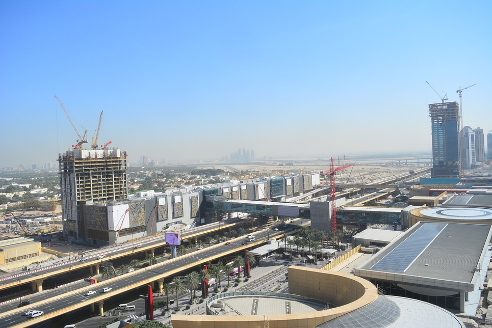 Emaar is building five link bridges leading to Dubai Mall.