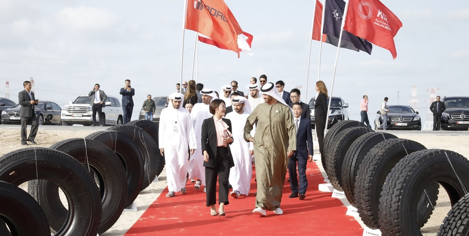 Construction has officially started on the $614m Roadbot Abu Dhabi tyre project in Abu Dhabi's Kizad.