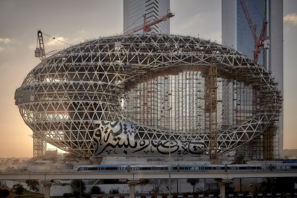 Museum of the Future is currently under construction in Dubai [© Phil Handforth / middleeastarchitect.com].