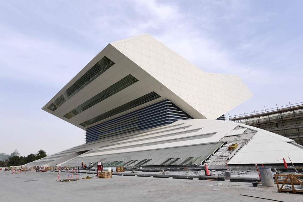 The MBR Library in the Jaddaf area of Dubai Creek is now 82% complete, Dubai Municipality has said.