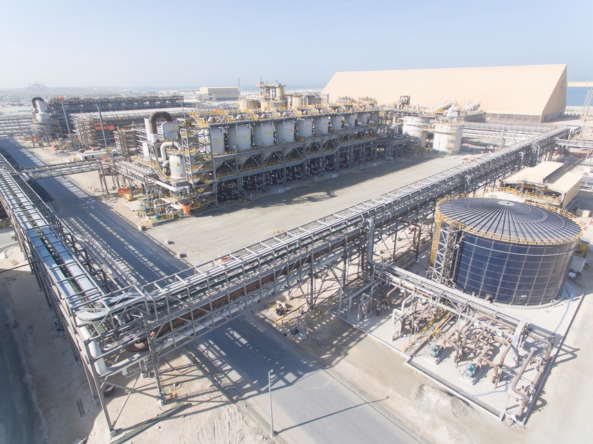 The UAE's first alumina refinery is nearing construction completion.