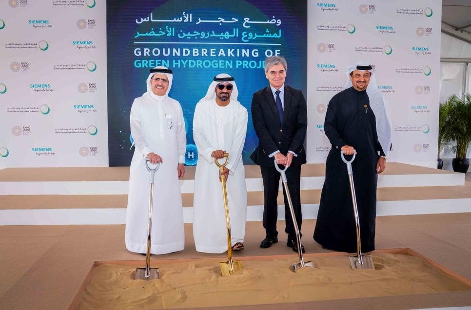HH Sheikh Ahmed broke ground on Expo 2020, Dewa, and Siemens' green hydrogen facility in Dubai.