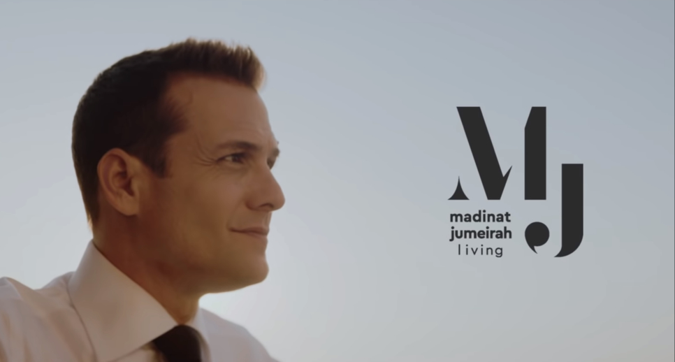 Gabriel Macht, best known for his Suits character Harvey Specter, endorses Madinat Jumeirah Living.
