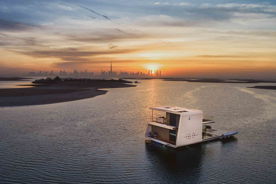 The Heart of Europe's floating homes in Dubai.