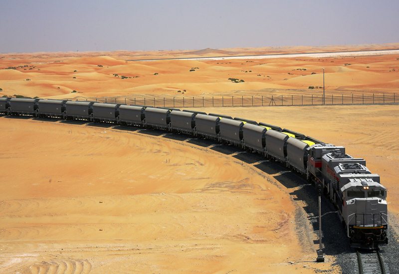 A logistics facility will be developed for Etihad Rail's Saudi Arabia-bound goods.