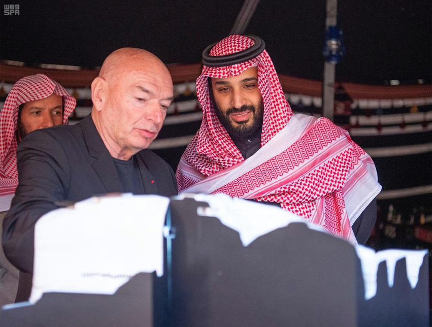 Saudi Arabia's Crown Prince reviewed plans for the Sharaan luxury tourism project in Al-Ula.
