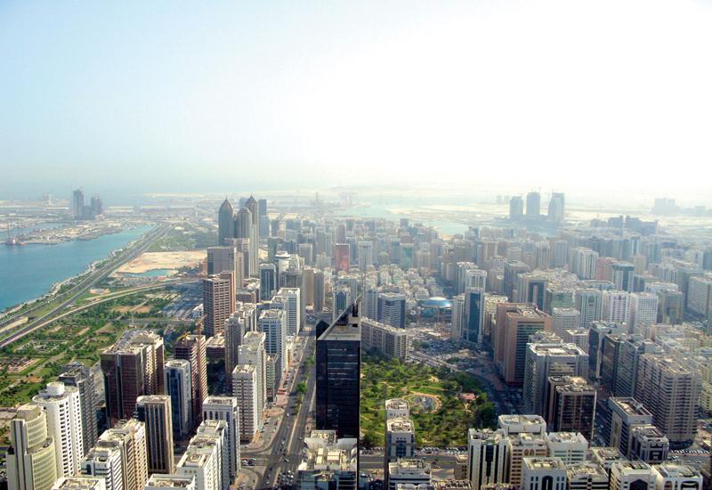 Aerial view of Abu Dhabi.