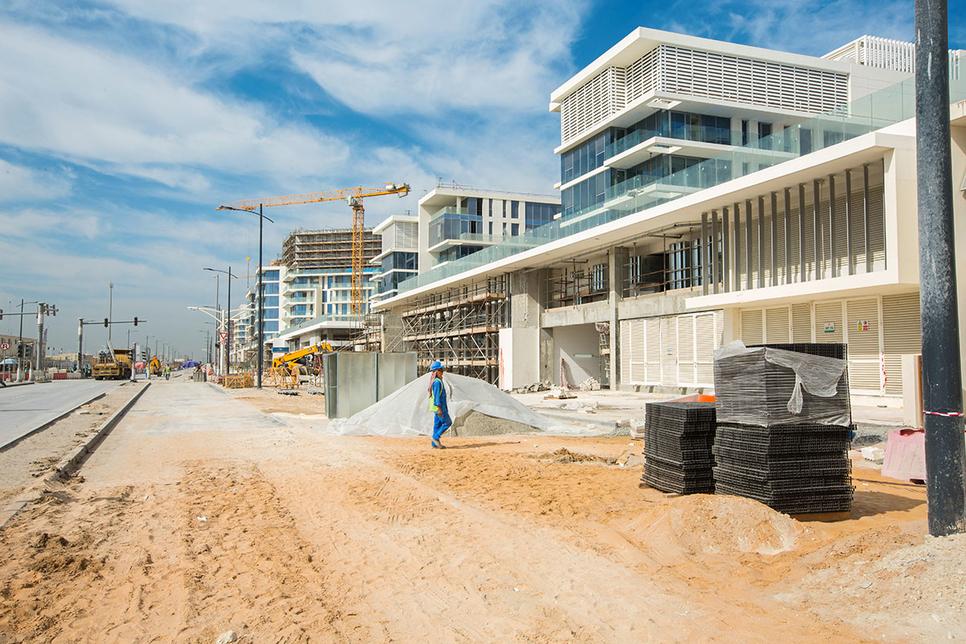 Aldar's Mamsha Al Saadiyat stretches for 1.4km along the beach.