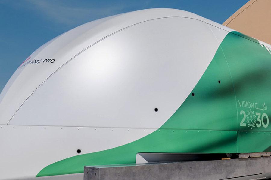 Virgin Hyperloop One concept pod for Saudi Arabia