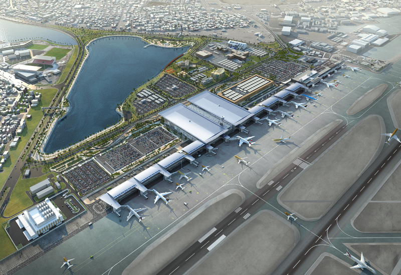 A new passenger terminal is being built at Bahrain's BAH.