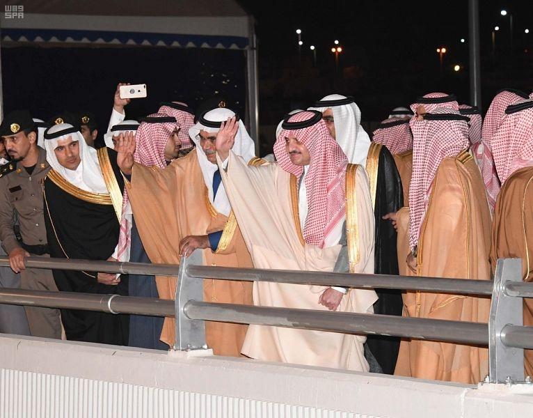HRH Prince Saud bin Nayef bin Abdul Aziz opened three road projects in Dammam.