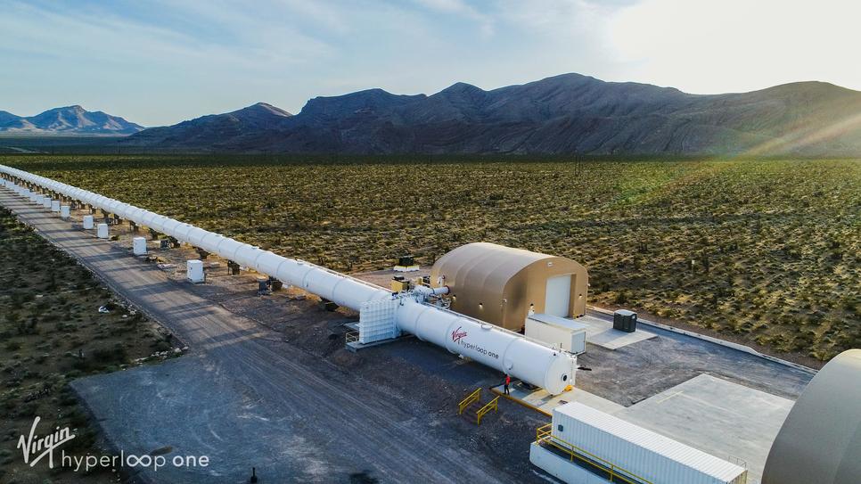 Virgin Hyperloop One has a full scale hyperloop test track in Nevada,