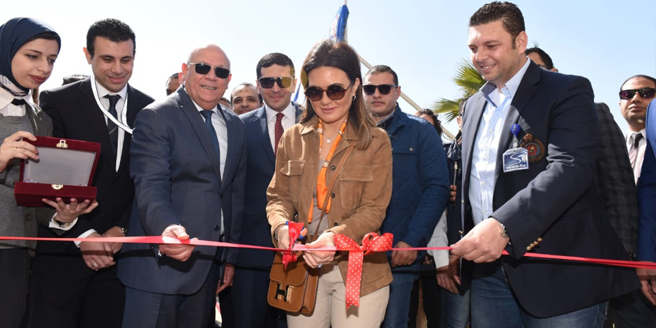 Egypt's Dr Sahar Nasr inaugurated two factories owned by Japan's Sumitomo in Port Said.