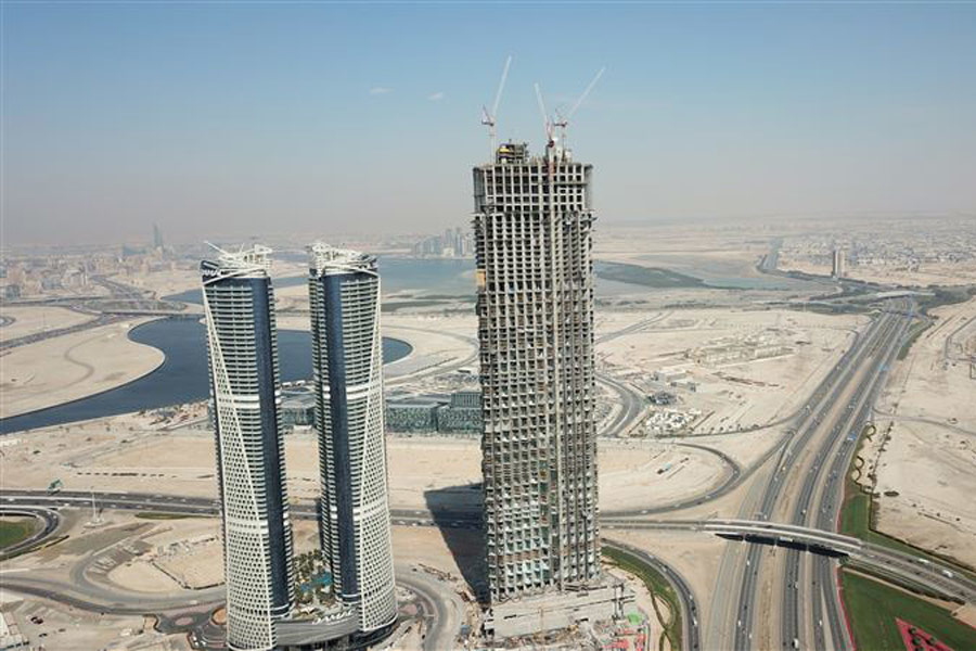 The tower is located next to Damac Towers by Paramount.