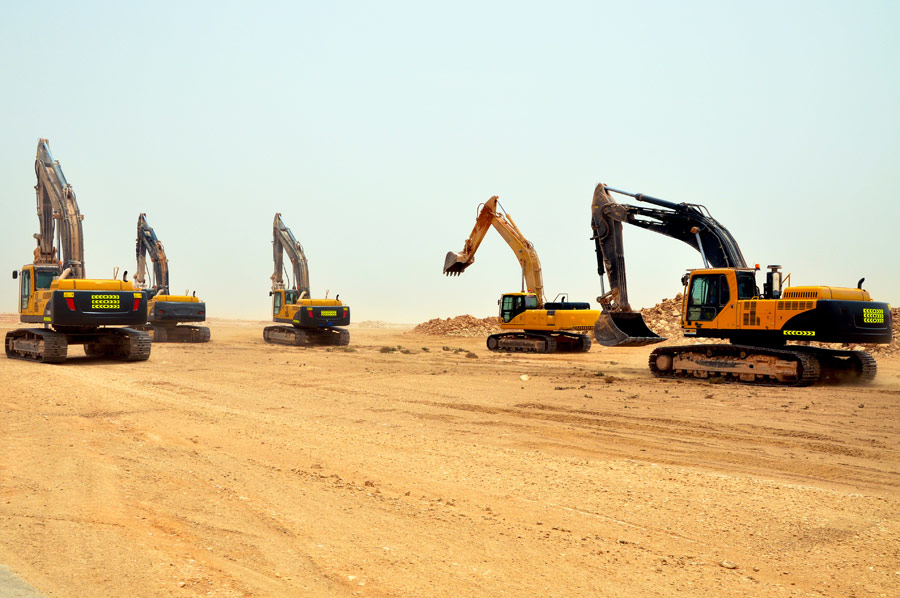 Oman's construction sector is noting slow growth.