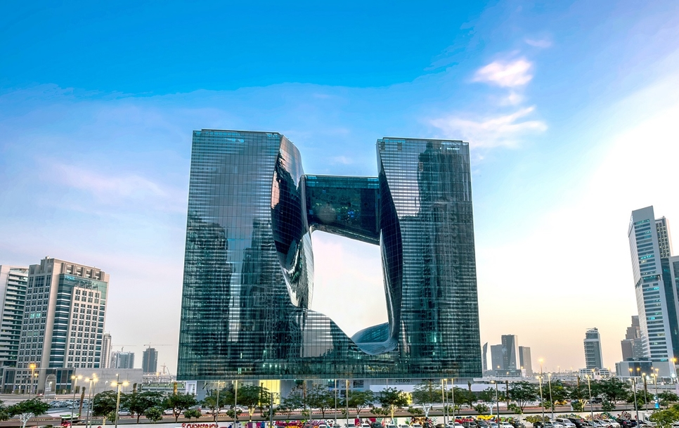 The Opus was designed by late British-Iraqi architect Zaha Hadid.