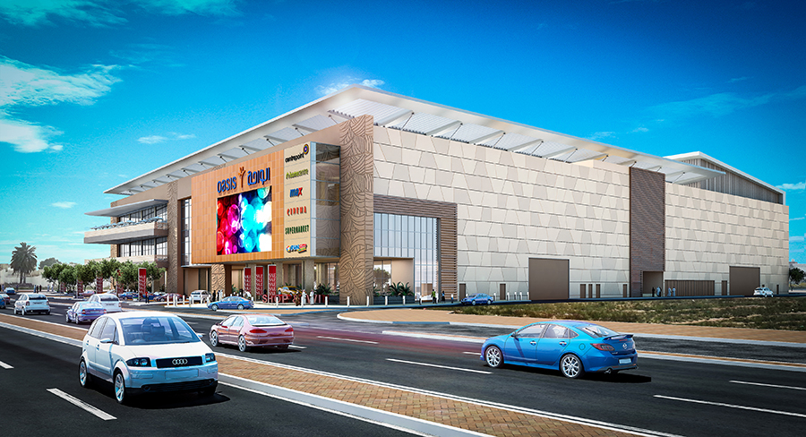 Oasis Mall Sharjah will open at the end of April 2019.