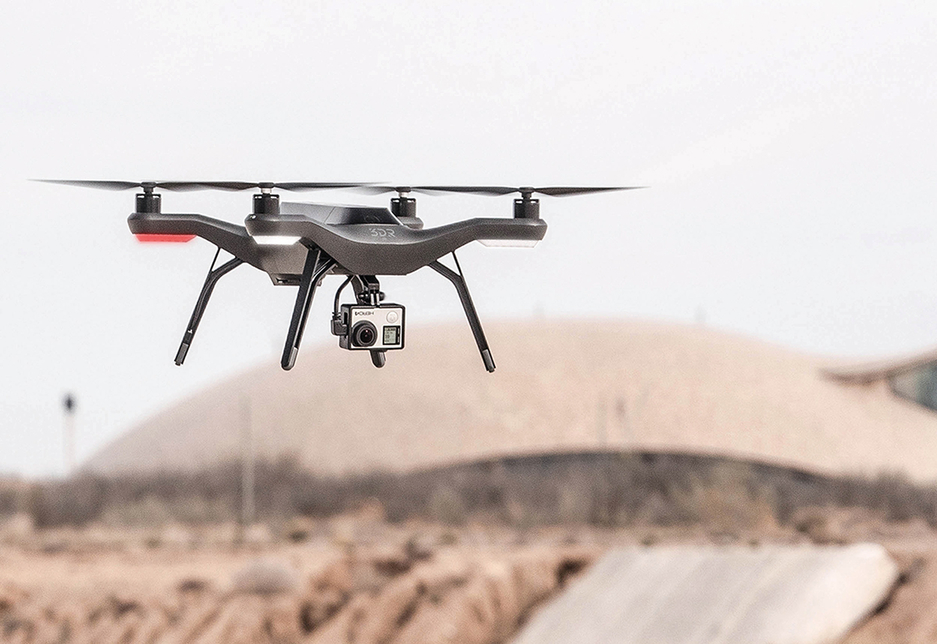 Drones are being used to monitor construction sites.