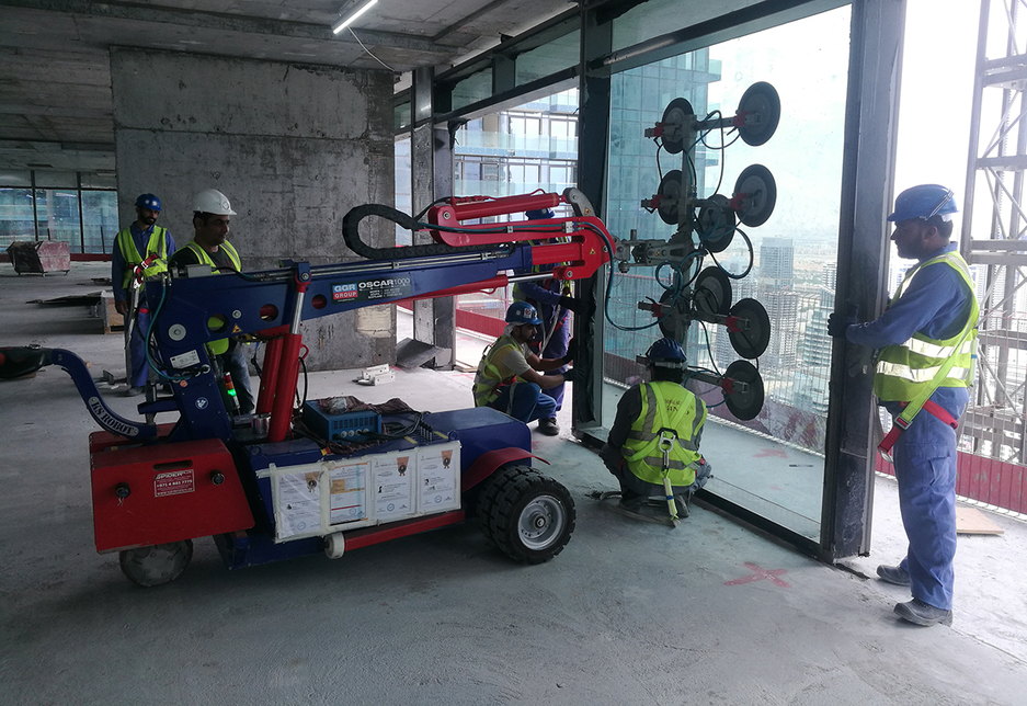 Robots were used for the Jumeirah Living at Marina Gate project.