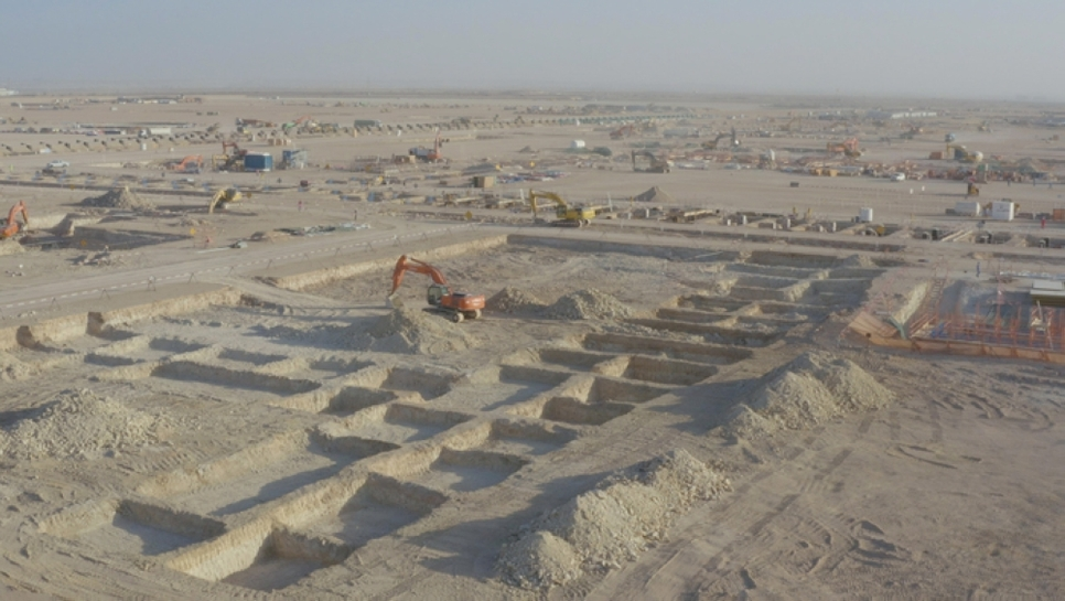 Oman's $7bn Duqm Refinery has made construction progress.