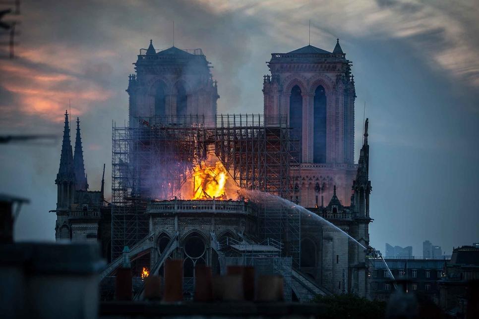 Notre-Dame de Paris caught fire on 15 April.