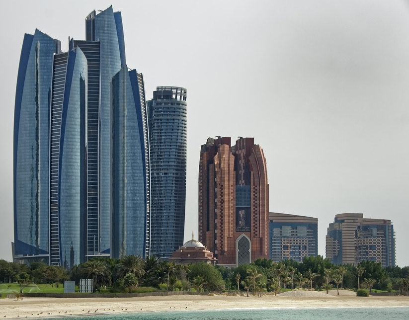 Skyline of Abu Dhabi.