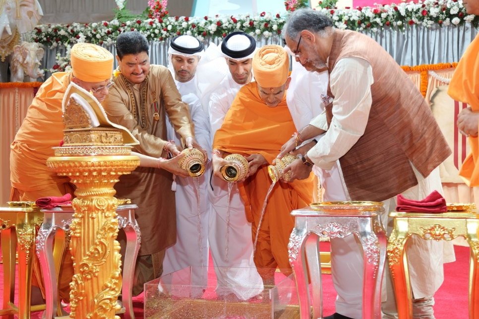 Work has started on Abu Dhabi's first Hindu temple.