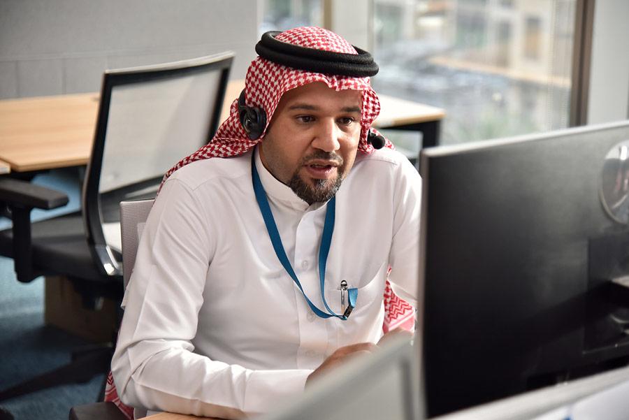 An employee at Atkins' revamped Saudi office in Riyadh.