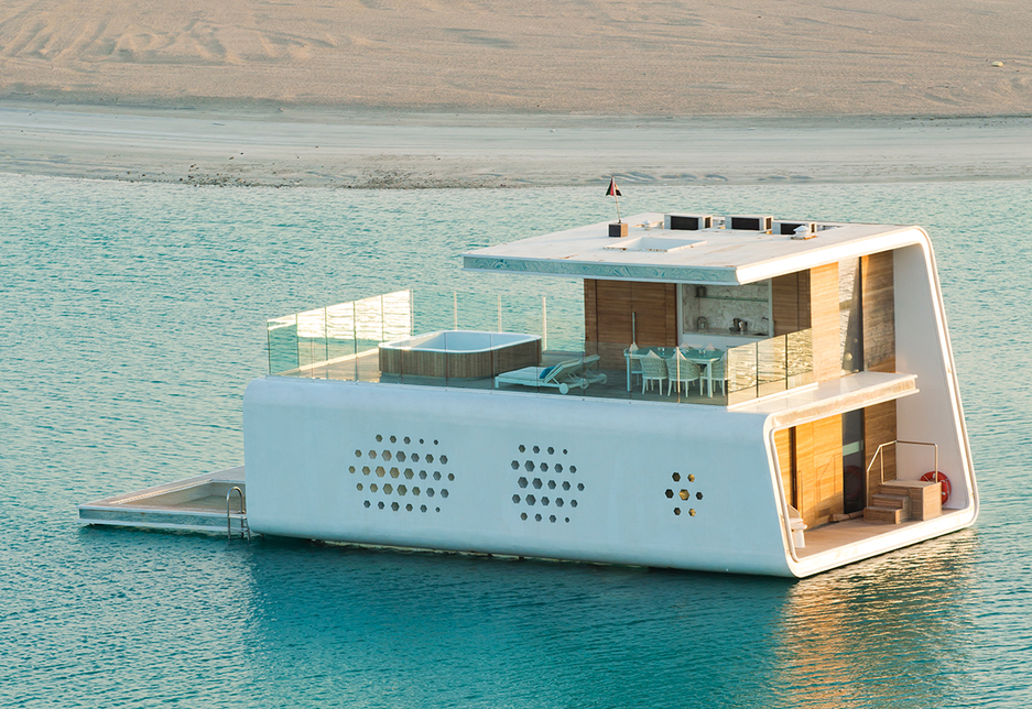 The floating Seahorse Villas each feature 61m2 of coral garden.