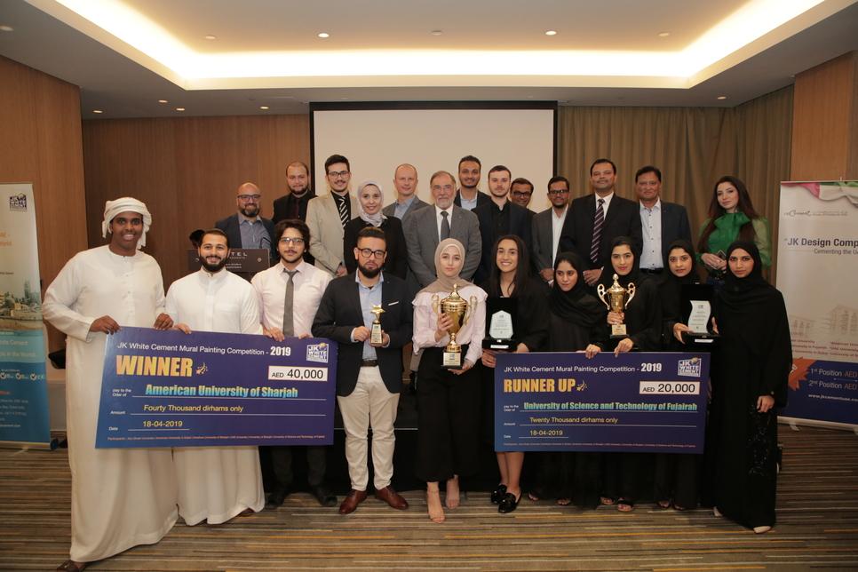 AUS students won JK White Cement's competition.