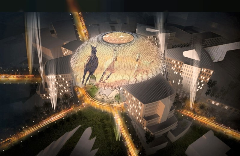 Al Wasl Plaza is the centrepiece of Expo 2020 Dubai's site.