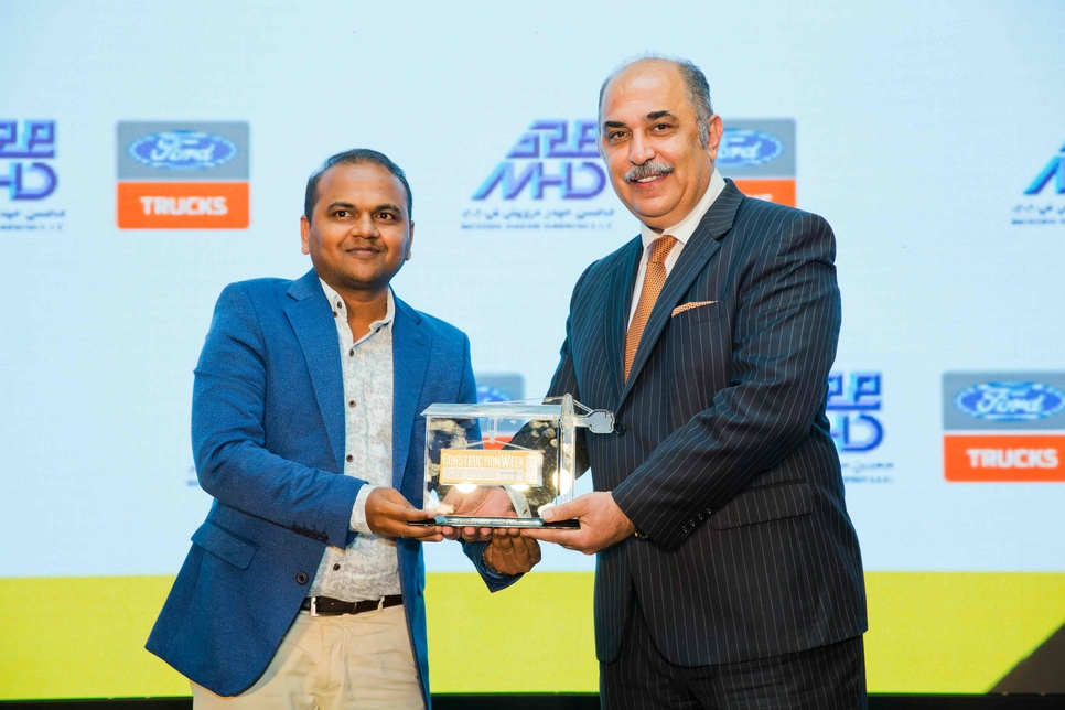 Pramod Shivanand Mathad (left) of L&T Oman is Engineer of the Year.