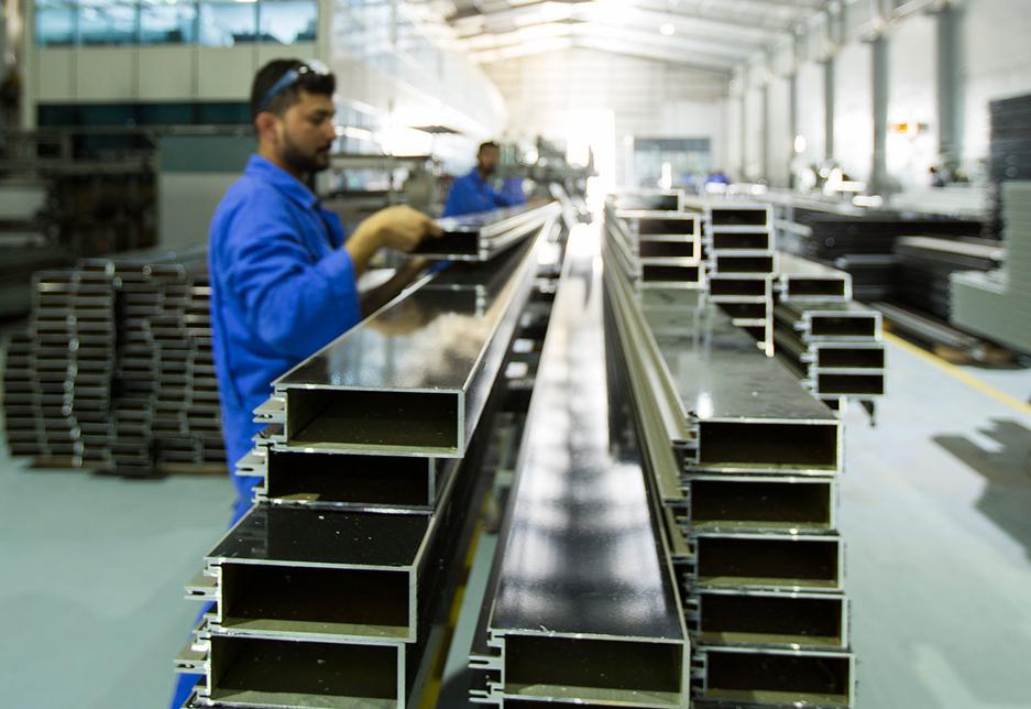 National Aluminium & Steel Factory in Ajman produces fireproof building materials.