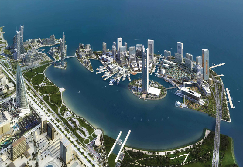 Axa's building is being built in the 43ha Bahrain Bay. [representational image]