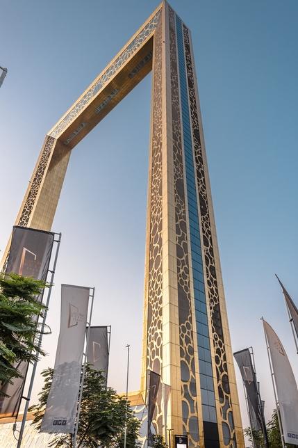Dubai Frame stands 150m tall.