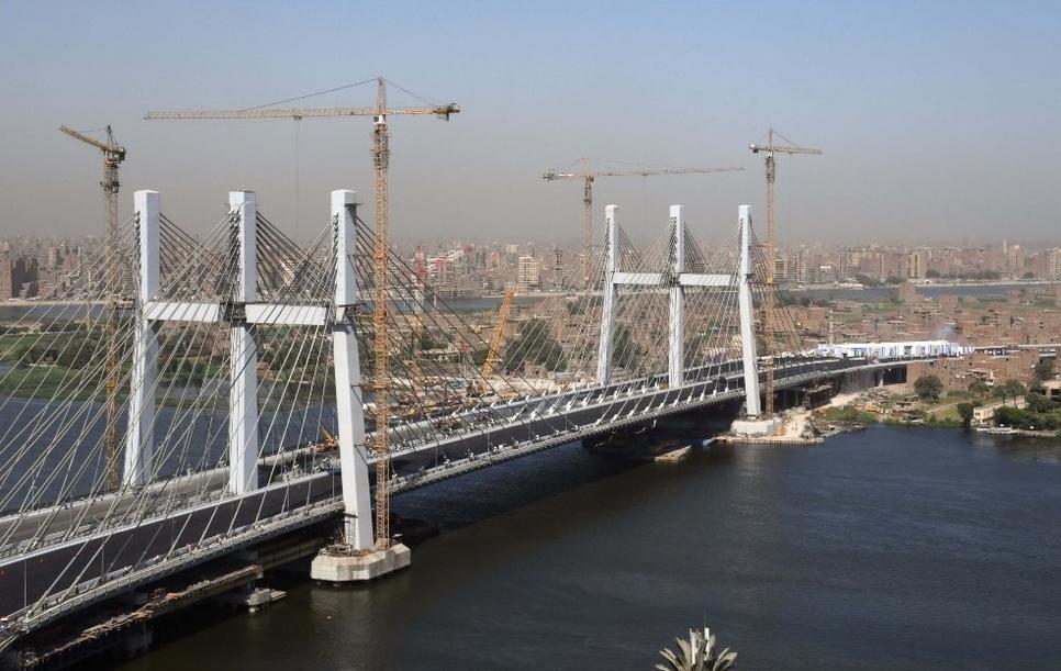 Egypt's Rod Al-Farg or Tahya Misr bridge is 67.3-metre wide.