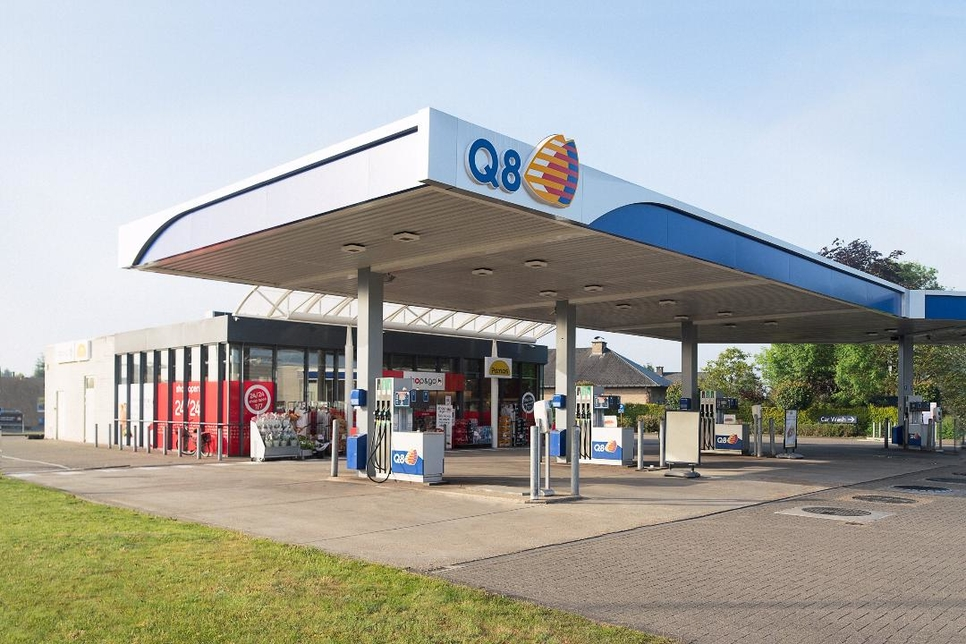 A Q8 Station in Belgium.