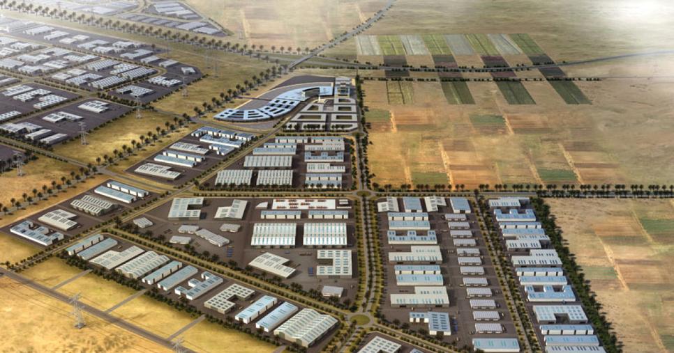 Masterplan of Kizad in Abu Dhabi.