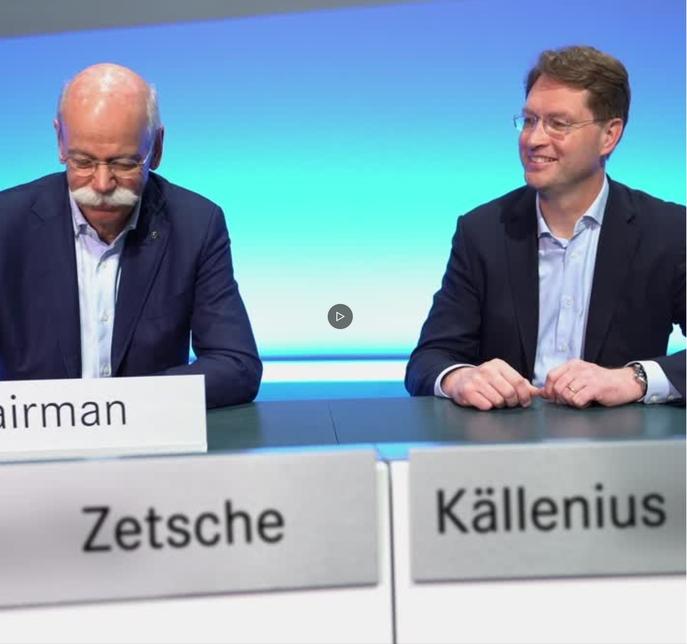 Zetsche hands over the reins to Källenius.