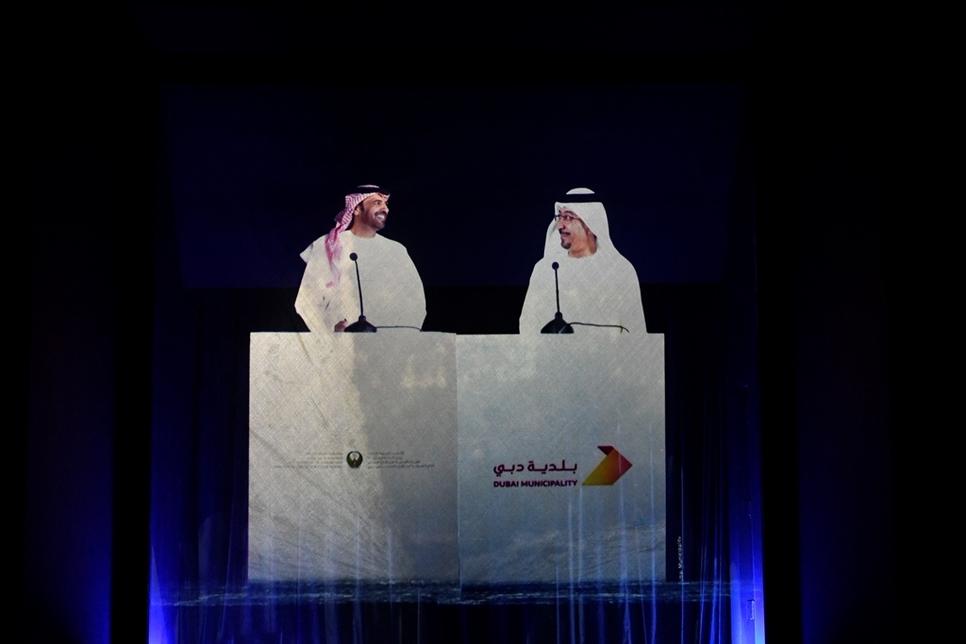L-R: DCD's Al Matrooshi with Al Hajri.