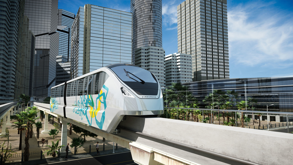 Egypt's planned $3.3bn monorail project.