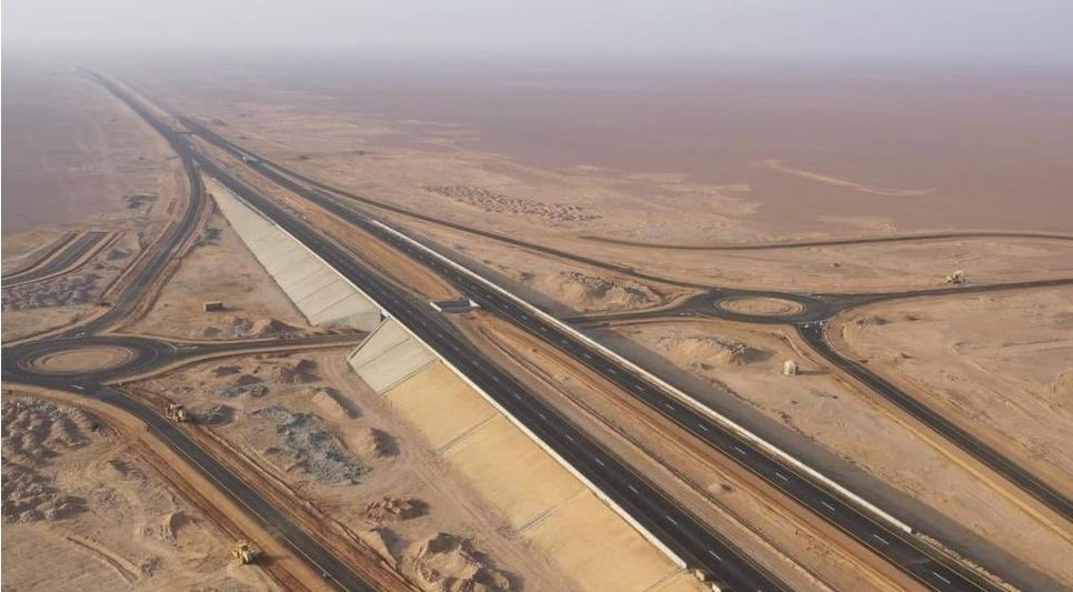 20km of Oman's Adam-Haima-Thumrait Road is open.