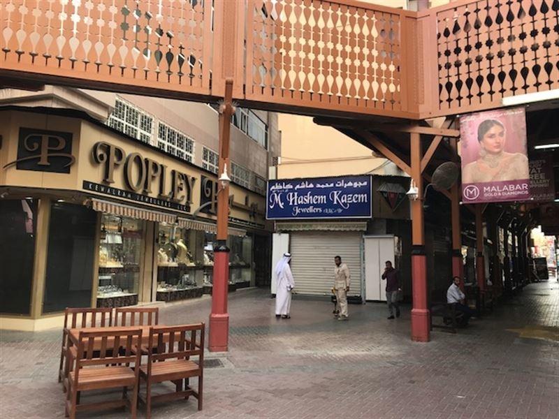 Inside Deira's traditional market in Dubai.